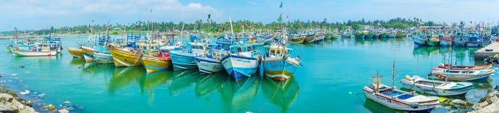 O porto cênico de Mirissa Imagem de Stock