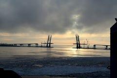 O porto da carga de St Petersburg Imagem de Stock