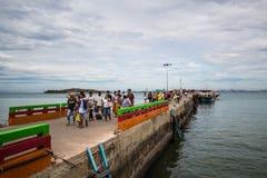 O porto da ilha de Larn, Pattaya Tailândia foto de stock royalty free