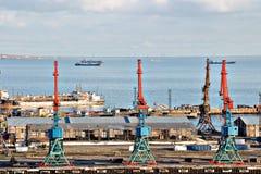 O porto de Baku, Azerbaijão, mar Cáspio Fotos de Stock Royalty Free