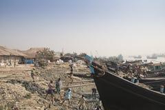 O porto de Chittagong, Bangladesh fotografia de stock royalty free