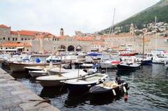 O porto de Dubrovnik Fotos de Stock Royalty Free