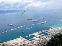 O porto de Gibralt fotografia de stock