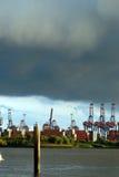 O porto de Hamburgo Imagem de Stock