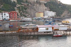 O porto de Marina Grande em Sorrento, Itália Fotos de Stock Royalty Free
