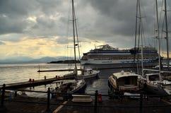 O porto de Messina, Sicília imagens de stock