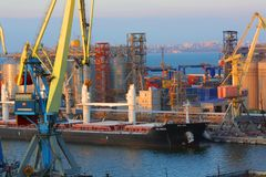 O porto de Odess foto de stock