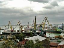O porto de Odessa Ukraine Fotos de Stock