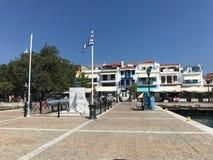 O porto de Skiathos imagens de stock royalty free