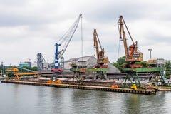 O porto de Swinoujscie Imagem de Stock Royalty Free