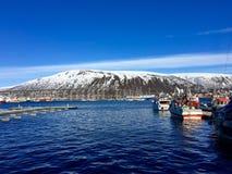 O porto de Tromsø, Noruega Fotos de Stock Royalty Free