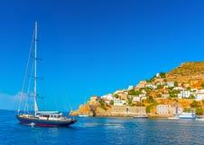 O porto do Hydra Fotografia de Stock