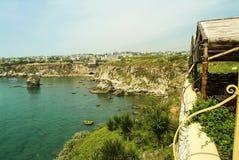 O porto e o porto antigos do Phoenician em Byblos em Líbano fotografia de stock royalty free