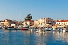 O porto em Aegina, Grécia fotos de stock royalty free
