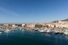 O porto em Ajácio na ilha de Córsega foto de stock royalty free