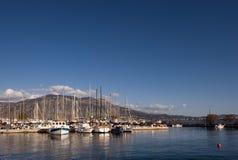 O porto em Kalamata foto de stock royalty free