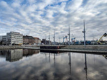 O porto em Kiel, Alemanha Imagens de Stock Royalty Free