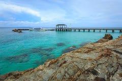 O porto em MAI-tonelada-ilhas, phuket, Tailândia Foto de Stock