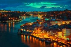 O Porto em a noite Foto de Stock Royalty Free
