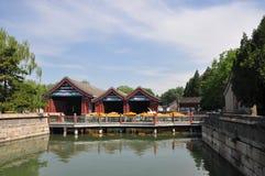 O porto imperial no palácio de verão Imagens de Stock