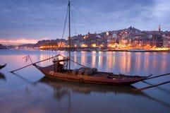 O Porto na noite Imagens de Stock