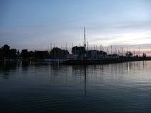 O porto no lago Fotografia de Stock