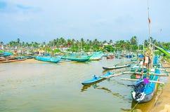 O porto no lago Ratgama imagem de stock royalty free