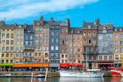 O porto velho de Honfleur, Normandy, França imagem de stock royalty free