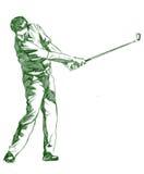 O Pose do balanço do golfe Fotografia de Stock