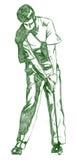 O Pose do balanço do golfe Foto de Stock Royalty Free