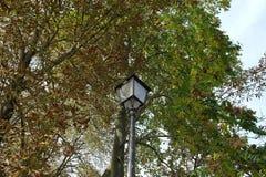 O poste de luz em Paris france Fotografia de Stock