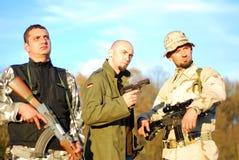 O poster de filme do soldado gosta Fotografia de Stock