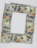 O posteriore dalle banconote in dollari immagine stock