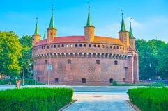 O posto avançado fortificado medieval em Krakow, Polônia Imagens de Stock