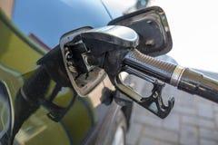 O posto de gasolina fotografia de stock royalty free