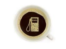 O posto de gasolina oferece o café imagens de stock royalty free