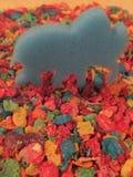 O pouco elefant grande Imagens de Stock