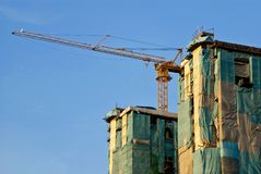 O prédio é contemporâneo na cidade de Banguecoque Imagens de Stock