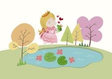 O príncipe Fairy Tale da rã ilustração royalty free