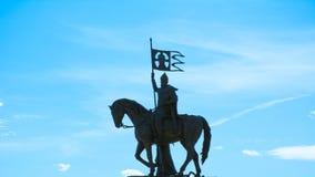 O príncipe Vladimir e Saint Fyodor do monumento, cidade de Vladimir, Rússia imagens de stock royalty free