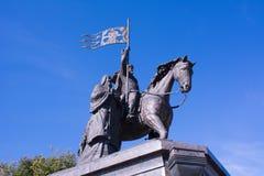 O príncipe Vladimir e Saint Fyodor do monumento, cidade de Vladimir, Rússia imagem de stock