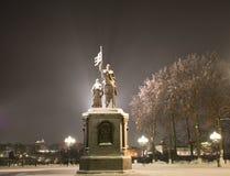 O príncipe Vladimir e Saint Fyodor do monumento, cidade de Vladimir, Rússia fotos de stock royalty free