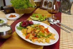 O prato chinês sobre os produtos do mar Fotos de Stock Royalty Free