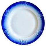 O prato com beira azul Fotos de Stock Royalty Free