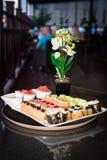 O prato do sushi fotos de stock royalty free