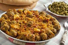 O prato marroquino com sardinhas tritura Foto de Stock