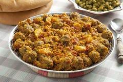 O prato marroquino com sardinhas tritura Fotografia de Stock Royalty Free