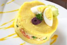 O prato peruano chamou Causa Fotografia de Stock Royalty Free