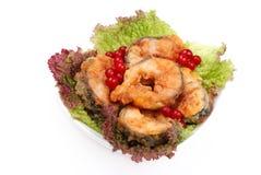 O prato serido dos peixes Imagens de Stock Royalty Free