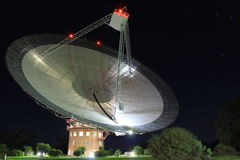 O prato, telescópio de rádio do CSIRO Parkes Fotografia de Stock